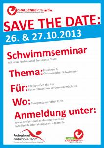 Challenge Roth Active Schwimmseminar 2013 Flyer