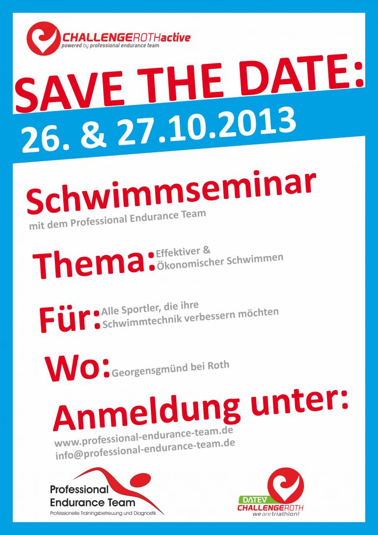 Challenge Roth Active Schwimmseminar 26./27.10.2013
