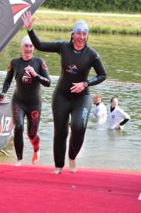 Kirstin Mäker Challenge Roth 2013 Schwimmen