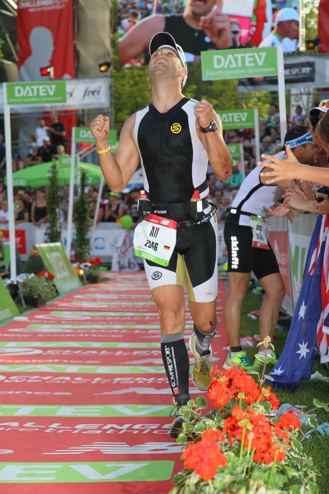 Alf Müller – trotz Radsturz neue Bestzeit aufgestellt