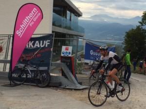 Walter Reichmuth auf der Radstrecke des Inferno Triathlon 2014