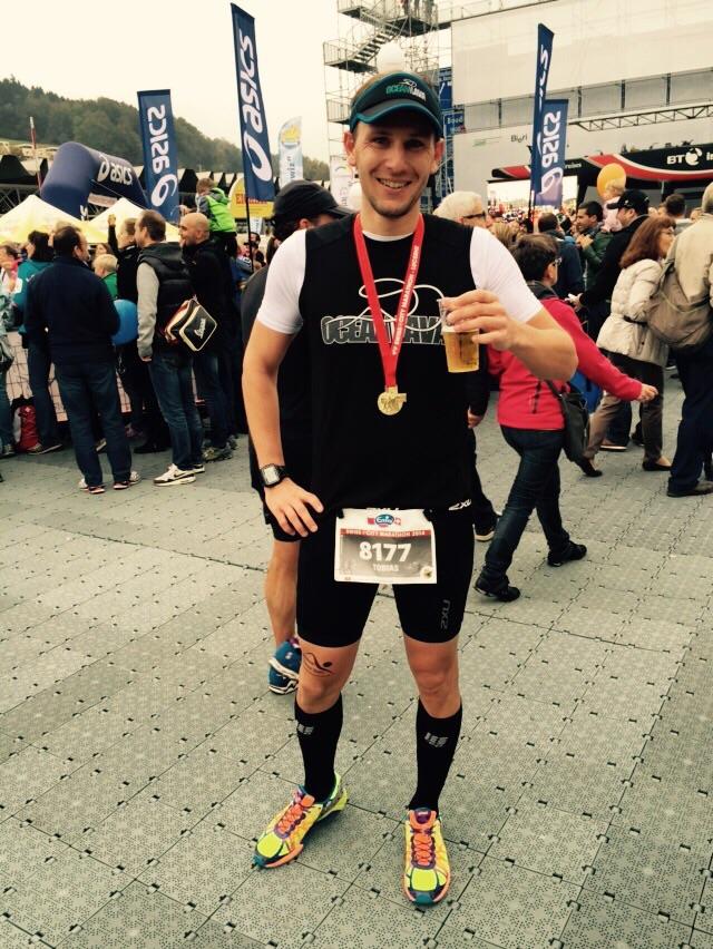 Tobi Kopp wollte es beim Halbmarathon Luzern wissen