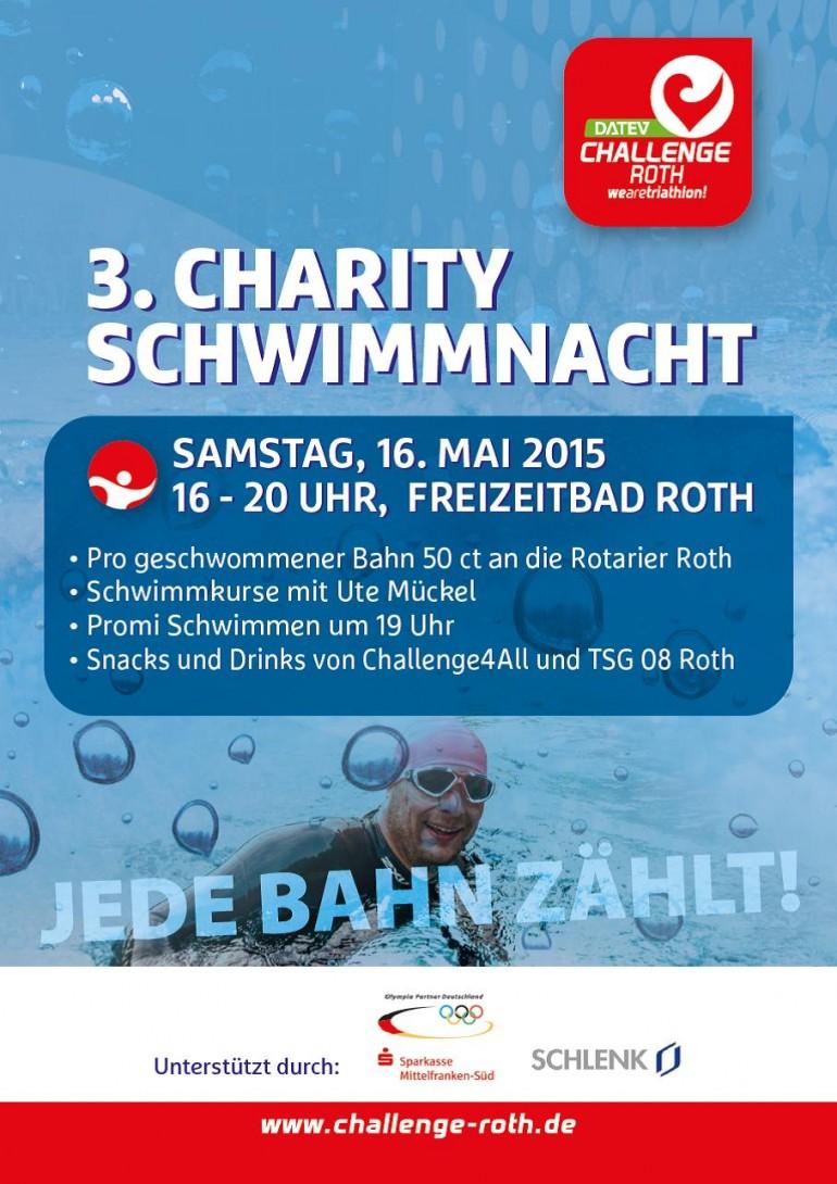 Jede Bahn zählt bei der 3. Charity-Schwimmnacht