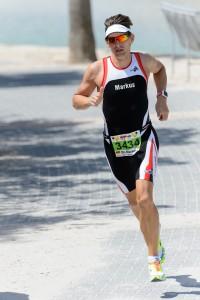 Markus Werner auf der Laufstrecke des Ironman 70.3 Mallorca 2015