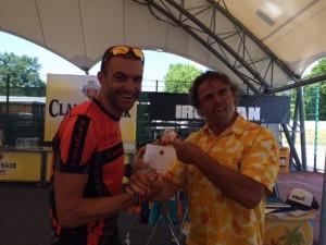 Walter Reichmuth und Hannes Blaschke bei der Hawaii Slot Vergabe des Ironman Frankfurt