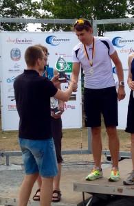 Markus Werner bei der Siegerehrung zur Deutschen Meisterschaft der Ärzte und Apotheker 2015
