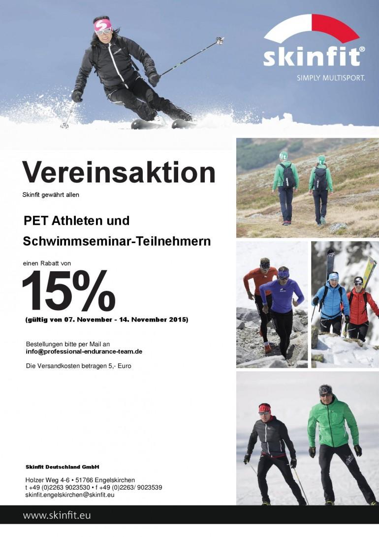 PET/Skinfitaktion zum neuen Herbstkatalog 2015