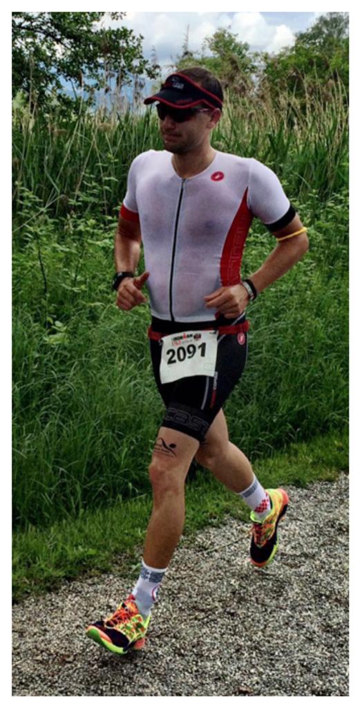 Tobias Kopp beim Ironman 70.3 Rapperswil auf dem Weg zum Ticket zur 70.3 WM in Australien