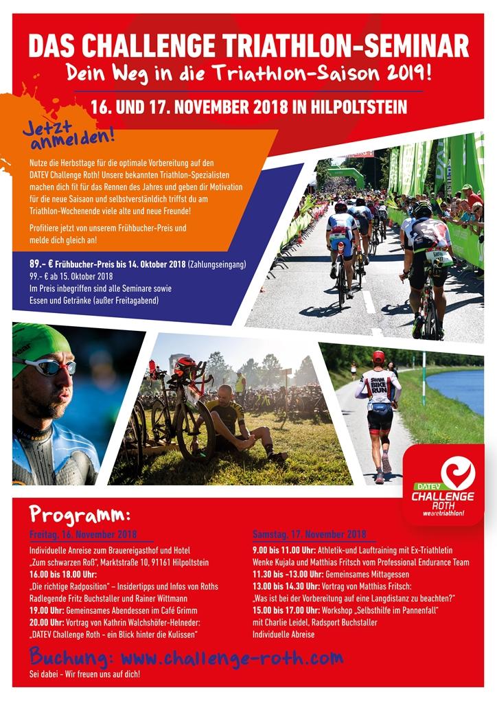 Challenge Roth Triathlon Seminar – Dein Weg in die Triathlon-Saison 2019