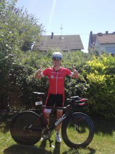 Dirk Janz, startklar für den Ironman Frankfurt