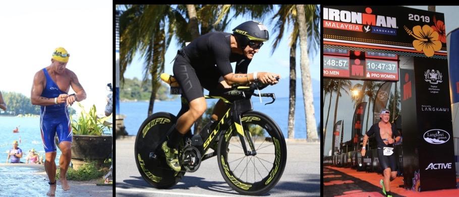 Christian Vordermayer auf der Radstrecke des Ironman Malaysia
