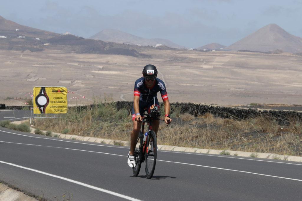 Martin Eberlein auf der Radstrecke des Ironman Lanzarote